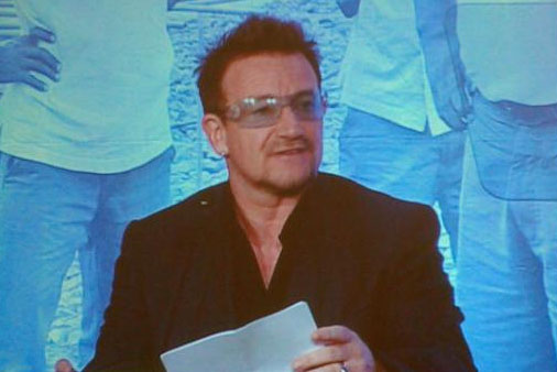 UPDATE: Bono addresses global leaders on hunger, agriculture and transparency at pre-G8 symposium