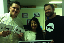 ONE Texas 'wows' Senate candidates Cruz & Sadler with petition signatures