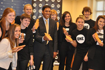 Raj Shah meets ONE members at his alma mater