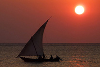 Amazing Africa: Sailing in a red sunset