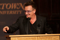 Bono's Georgetown speech on social activism uplifts and inspires