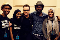 Bono and K'naan meet with Somali Minnesotans to discuss crisis in Horn of Africa