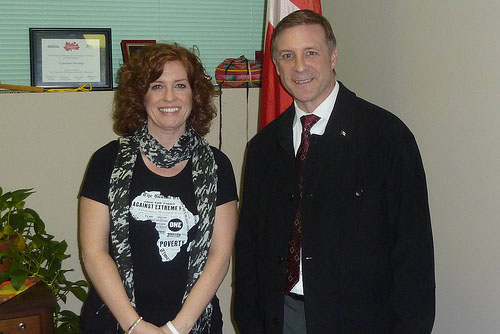ONE member meets a Canadian MP with a heart for Africa