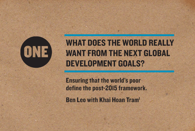 What Does the World Want from the Next Global Development Goals?