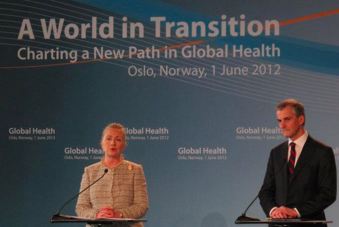 Sec. Clinton talks global health and shared responsibility in Oslo