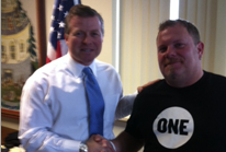 Meeting Rep. Charlie Dent in Pennsylvania