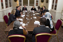 Top transparency names convene at G8 breakfast