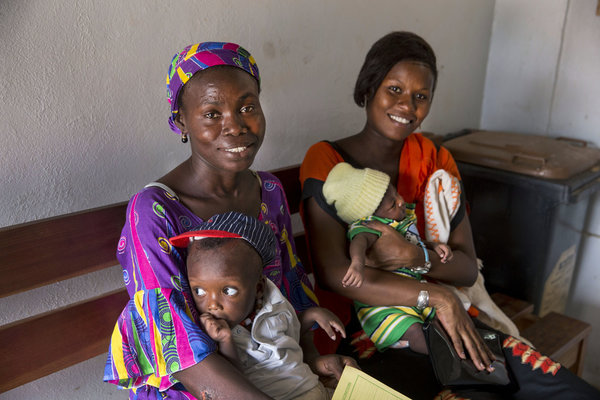 Mothers wait in line for post-natal care at a clinic in Senegal. Photo credit: Jonathan Torgovnik/Images of Empowerment