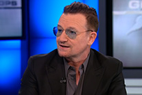 "Bono on CNN: AIDS is ""on the run because of American leadership."""