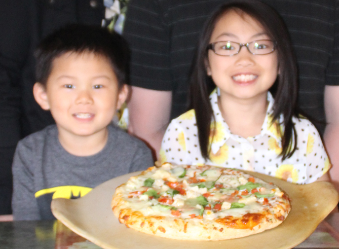 My kids on Pizza Night Friday.