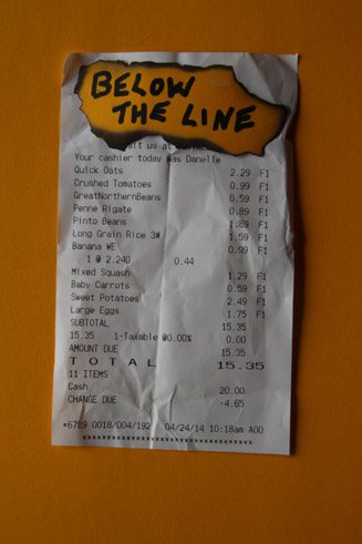 Photo Grocery Receipt