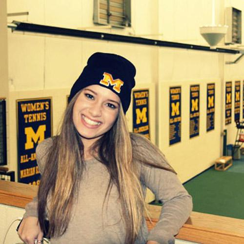University of Michigan selfie