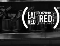 EAT (RED). DRINK (RED). SAVE LIVES.