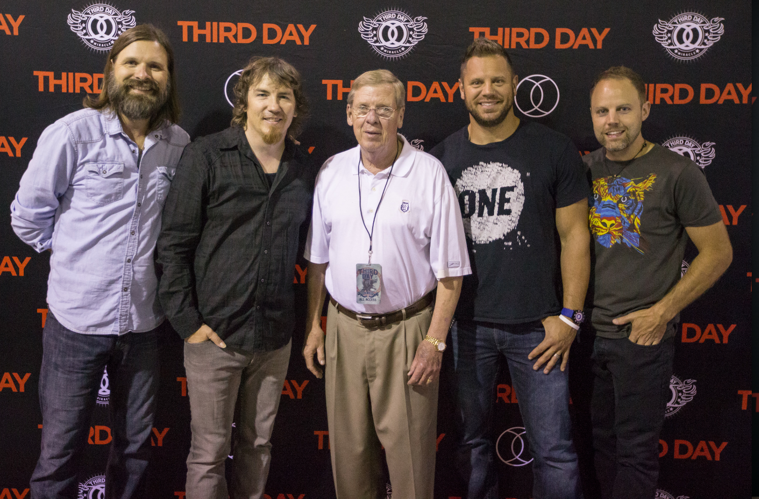 The band Third Day with Georgia Senator Johnny Isakson