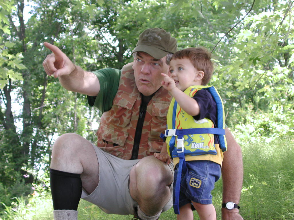 My father taking my son on his first canoe trip. One of my all time favorite photos of him passing on knowledge that he once passed on to me.