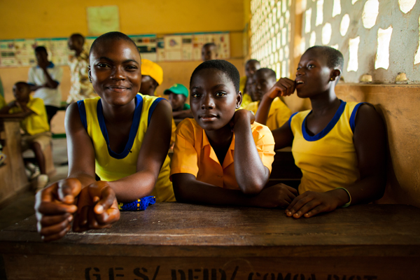 Girls at school in Ghana. Photo Morgana Wingard/ONE.