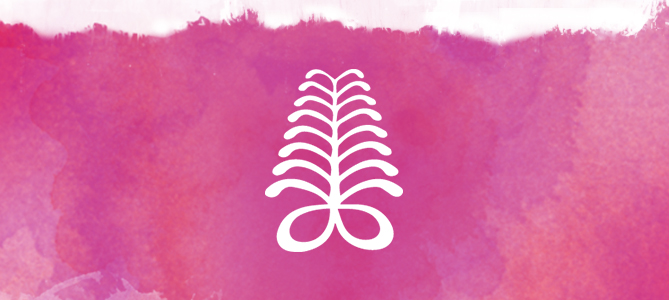 Fern watercolor footer-pink