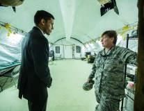 In Photos: USAID's Raj Shah tours a new hospital for Ebola aid workers