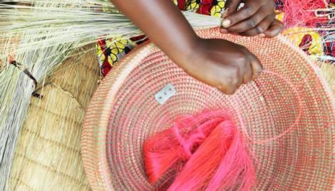 Making baskets, Imirasire, Rwanda