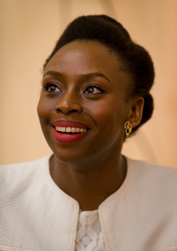 Author Chimamanda Ngozi Adichie at the Howard County Library System's Miller Branch.