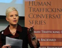 Cindy McCain calls for an end to human trafficking. Now.