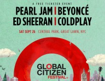 Beyoncé, Pearl Jam, Coldplay, Ed Sheeran play Global Citizen in NYC