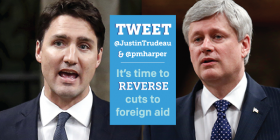 Munk Debate: Ask two of the party leaders to commit to increasing foreign aid
