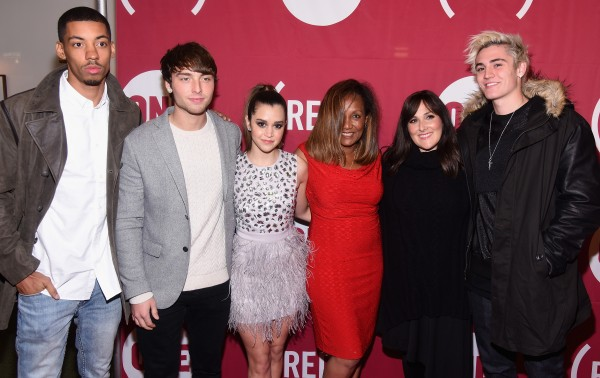 (L-R) Melvin Gregg, Wesley Stromberg, Megan Nicole, Marie Da Silva, Ricki Lake, and Sam Wilkinson attend ONE and (RED)'s World AIDS Day event at Carnegie Hall on December 1, 2015 in New York City. (Photo by Dave Kotinsky/Getty Images for The ONE Campaign)