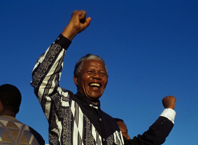 Nelson Mandela (Photo credit: Greg Marinovich/Sygma/Corbis)