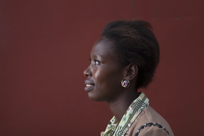 Jeanne Marie Uhiriwe, solar kiosk franchisee, Kigali, Rwanda