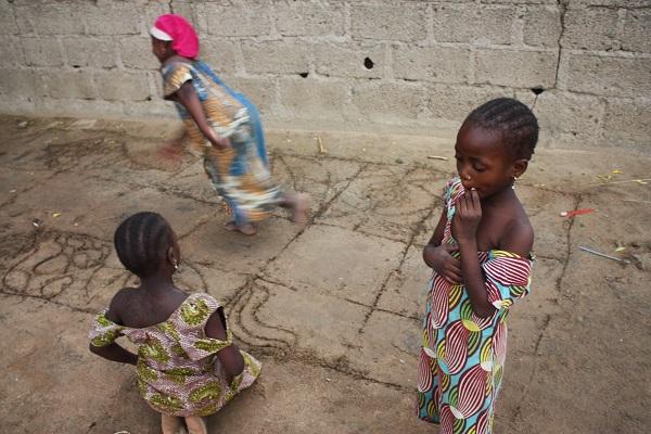 Chibok _ girls playing