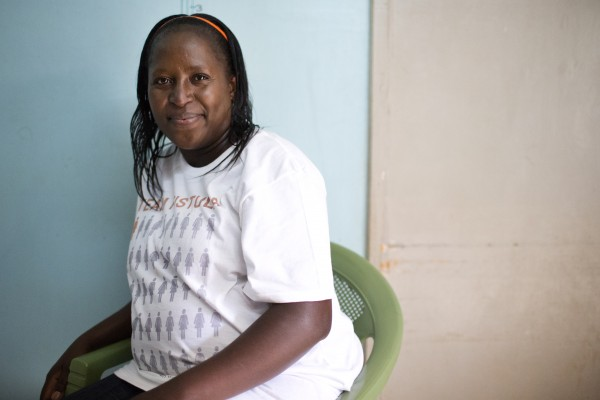 Sarah Omega Kidangasi, 39, poses for a photograph in a health clinic in Eldoret, Kenya on April 30, 2015. Sarah is an advocate for the Campaign to End Fistula, served as a senior spokesperson with UNFPA, and is Outreach Manager in Western Kenya for One By OneÕs LetÕs End Fistula initiative. She now serves as Communications Officer for the Fistula Foundation Action on Fistula program in Kenya.