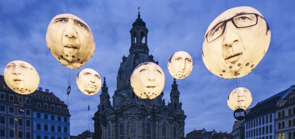 Our giant G7 balloons in Dresden, Germany.
