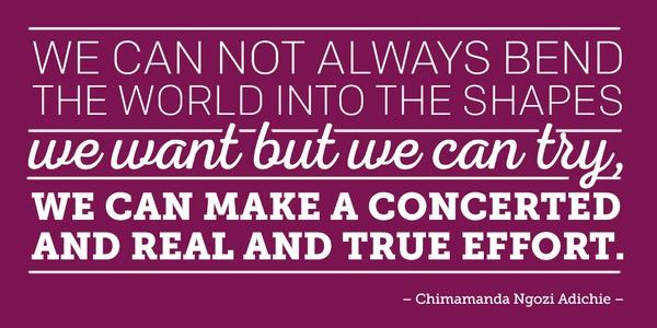 Chimamanda Ngozi Adichie Quotes Inspiration ONE 48 Quotes To Inspire You Everyday ONE