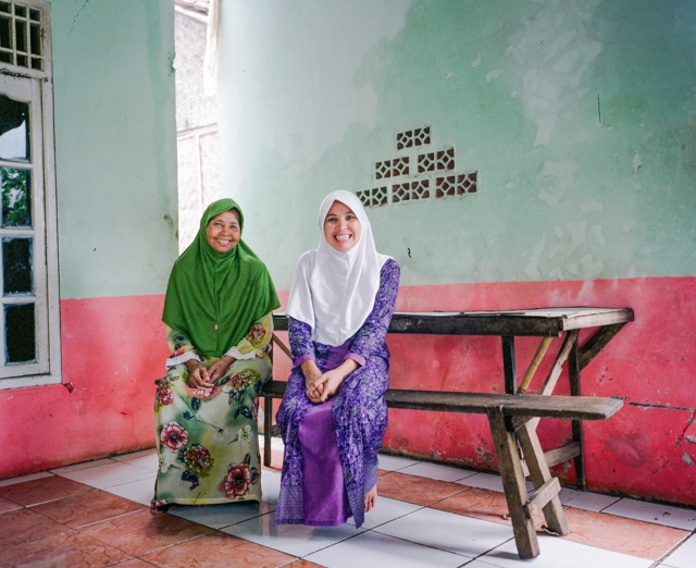 Mu'minah and her mother Munadiah used WaterCredit funds to construct both a water connection and an in-home toilet.