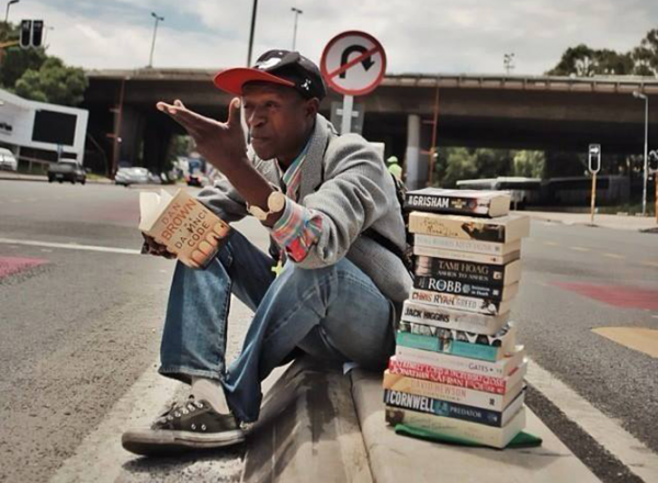 Philani Dladla, a.k.a. the Pavement Bookworm. (Photo credit: http://facebook.com/jacaranda942)