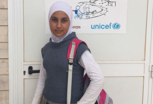 Lina, 14, Syria, currently living in a Jordan refugee camp