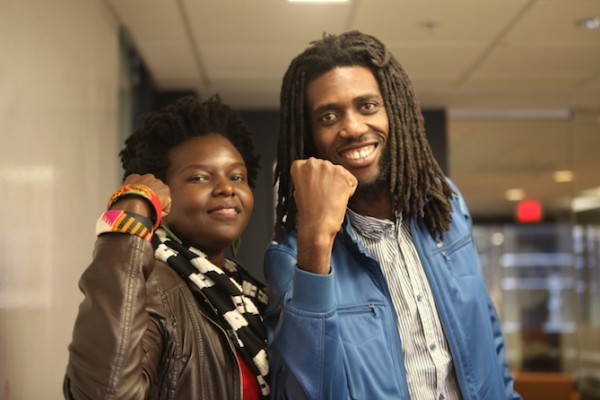 Selmor and Tendai pose for a #strengthie during their visit to the U.S.