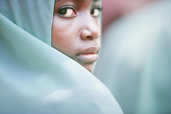 A young girl at a madrassa (school) in Zanzibar. HIV education is part of the curriculum throughout the archipelago. (Photo credit: The Global Fund / John Rae)