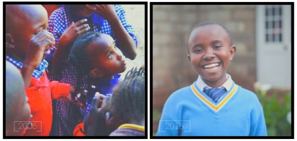 Eunice in 2009 (left) and in 2015. (Photo credit: Flying Kites)