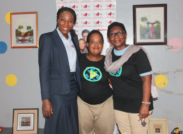 Awele and Rose Mordi (center and right) preparing for an awareness walk in 2015.